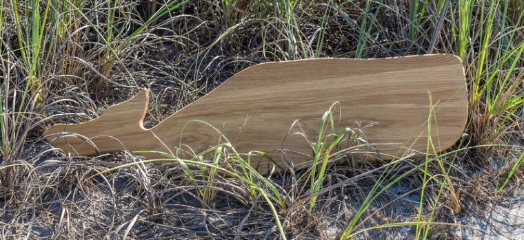 coastal decor wood whale
