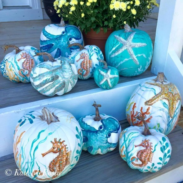 coastal pumpkin ideas