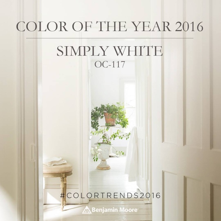 Color Of The Year 2016 Simply White